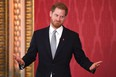 Prince Harry, Duke of Sussex, the Patron of the Rugby Football League hosts the Rugby League World Cup 2021 draws at Buckingham Palace on January 16, 2020 in London, England.