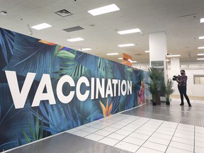 Where are the youth? A section of the Devonshire Mall Vaccination Centre is shown on June 18, 2021.