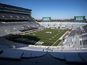 Spartan Stadium is pictured before the game between the Michigan State Spartans and Indiana Hoosiers on November 14, 2020 in East Lansing, Michigan.