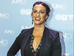 Alanis Morissette at the red carpet arrivals for the 2015 JUNO Awards in Hamilton, Ont. on Sunday March 15, 2015.