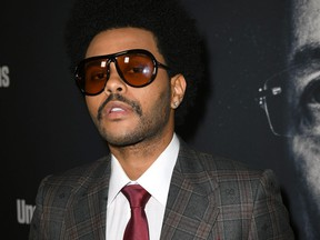 """The Weeknd at the premiere of A24's """"Uncut Gems"""" at The Dome at Arclight Hollywood on Dec. 11, 2019 in Hollywood, Calif."""