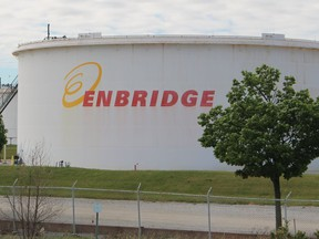 Enbridge facility on Plank Road in Sarnia. Court-ordered mediation continues between Enbridge and Michigan over its governor's efforts to shut down the Line 5 pipeline crossing in the Straits of Mackinac.