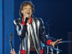 Lead singer Mick Jagger of the Rolling Stones kicks off their U.S. tour in St. Louis.