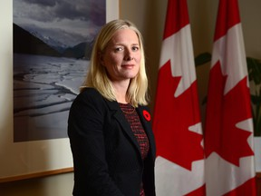 Minister of Environment and Climate Change Catherine McKenna poses for a photo in her office on Parliament Hill in Ottawa on Tuesday Nov. 7, 2017.
