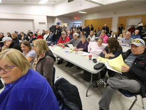A group of concerned citizens met in Winnipeg to discuss the Bruce Oake Recovery Centre today.  Saturday, November 11, 2017.   Sun/Postmedia Network Chris Procaylo, Chris Procaylo/Winnipeg Sun