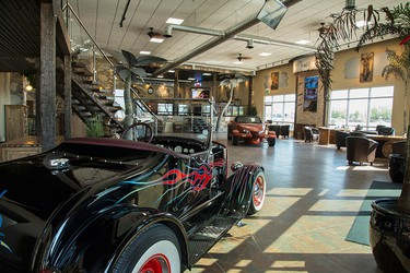 Harley and Auto Show co-owner Ty Unruh spent the better part of two years transforming the building into the impressive space it is today.
