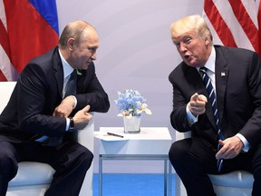 Russia's President Vladimir Putin (left) and U.S. President Donald Trump are set to hold a summit in Helsinki, Finland on Monday. This historic encounter is an opportunity for President Donald Trump to discuss the Ukraine situation by enforcing the brakes on Russian aggression and further expansionism into Ukraine.