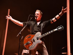 NEW YORK, NY - OCTOBER 24:  Josh Homme of Queens Of The Stone Age In Concert at Madison Square Garden on October 24, 2017 in New York City.  (Photo by Theo Wargo/Getty Images)