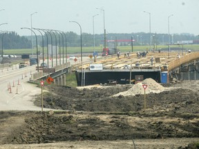 File photo of work in progress on the Floodway Expansion Project.