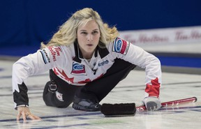 Already with six Canadian championships to her name, Winnipegger and Team Canada skip Jennifer Jones can become the first woman to ever win seven if she can defend her title at the Scotties this year.(The Canadian Press)