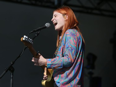 Winnipeg singer Taylor Janzen performs on the Main Stage to kick-off the 46th annual Winnipeg Folk Festival at Birds Hill Provincial Park, north east of Winnipeg, Man. on Thursday, July 11, 2019. The annual Festival runs July 11 to 14, 2019.
