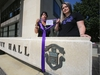 Arlene Last-Kolb and Rebecca Rummery were at City Hall in Winnipeg to launch the Purple Ribbon campaign which aims to increase awareness of and reduce the stigma surrounding overdose related deaths. Friday, August 02/2019 Winnipeg Sun/Chris Procaylo/stf