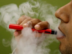 """As of Jan. 1, Red River College's eight campuses - including Notre Dame and Exchange District - will be """"butting out"""", when vaping and smoking will no longer be permitted."""
