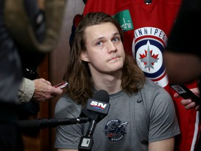 Jets defenceman Sami Niku will be out of the lineup for a while.