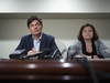 Lawyers Lawrence Greenspon and Tina Hill speak during a press conference on the civil litigation by Mark Grant against various Manitoba crown attorneys and police, in Ottawa, on Thursday, Oct. 17, 2019. Grant was wrongfully convicted in the 1984 death of Candace Derksen and spent over 10 years in incarceration. THE CANADIAN PRESS/Justin Tang