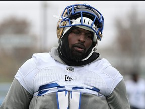 Offensive lineman Jermarcus Hardrick brought his family north in mid-June and completed a 14-day quarantine, which allows him to work out with some of his local teammates at IG Field while most other American players are just arriving and starting a mandatory seven-day isolation period.