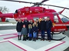 The family of Irene and the late Ed Krahn pictured during Friday morning's helipad opening at Winkler's Boundary Trails Health Centre on Friday, Dec. 6, 2019.