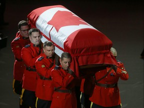 A regimental funeral for RCMP Const. Allan Poapst took place in Winnipeg on Friday, Dec. 20, Poapst died in a traffic accident a week earlier.