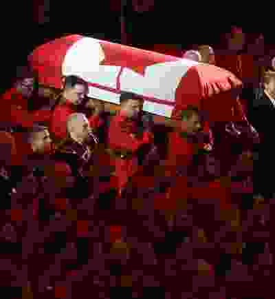 A regimental funeral for RCMP Cst. Allan Poapst took place in Winnipeg today, Poapst died in a traffic accident.  Thursday, December 19/2019 Winnipeg Sun/Chris Procaylo/stf