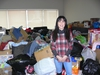 NDP MP Leah Gazan (Winnipeg Centre) stands in front of an every-growing collection of clothing, toys and household items at her riding office on Sargent Avenue in Winnipeg on Sunday, Dec. 29, 2019. Over Christmas and Boxing Day, 31 community members of Winnipeg's West End were displaced due to two separate fires on Agnes and Furby streets. On Dec. 27 and 28, MP Leah Gazan and NDP MLA Lisa Naylor (Wolseley) met with families and individuals impacted by the fires. A drop-off location is being held over the weekend at 892 Sargent Avenue on Saturday, Dec. 28 and Sunday, Dec. 29 between 11 a.m.-2 p.m. and Monday, Dec. 30 between 10 a.m.-4 p.m.