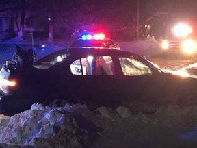 Early Thursday morning. Selkirk RCMP initiated a traffic stop with a vehicle with no front or rear licence plates. However, the vehicle failed to stop for police and fled. A short distance away at an intersection in Selkirk, the vehicle lost control and struck a snowbank, police said.