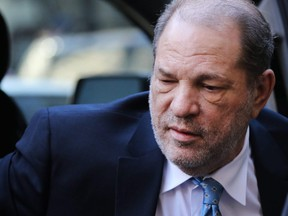 Harvey Weinstein enters a Manhattan courthouse during his trial in New York City on Monday, Feb. 24, 2020.