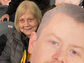 Jeannette Gunnlaugson celebrated her 88th birthday with her grandson, Jason Gunnlaugson, at the Brier. (Submitted Photo)