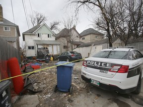 Police are investigating a homicide in the 700 block of Victor Street, in Winnipeg on Saturday, April 25, 2020.