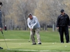 A golfer tracks his putt at Rossmere Golf and Country Club on Watt Street in Winnipeg on Mon., May 4, 2020. Kevin King/Winnipeg Sun/Postmedia Network