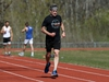 Coun. Brian Mayes jogs on the rubberized track at Victor Mager School in Winnipeg on Mon., May 18, 2020. Mayes is pushing for two new rubberized tracks in the north part of the city. Kevin King/Winnipeg Sun/Postmedia Network