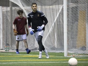 Valour FC goalkeeper James Pantemis on loan from the Montreal Impact of the MLS.