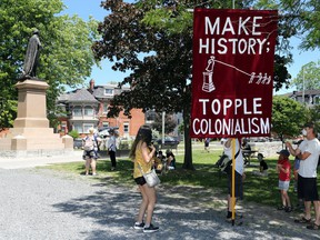 Protesters in Kingston recently demanded the city take down a statue of Sir John A. Macdonald.
