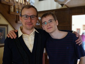 Andriy Bazelevsky with his younger brother, Misha. Misha was murdered by an ISIS terrorist who drove into a crowd of people with a truck in Nice, France on July 14, 2006.