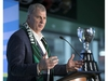 REGINA, SASK :  February 28, 2020  —  CFL commissioner Randy Ambrosie speaks during an announcement held prior to the upcoming 2020 Grey Cup in Regina on Friday, February 28, 2020.   TROY FLEECE / Regina Leader-Post