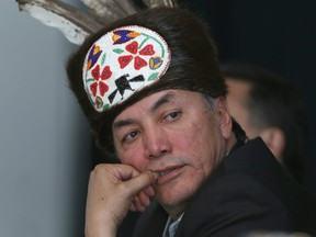 Chief Dennis Meeches of Long Plain First Nation and the Treaty One Nation government spokesperson.