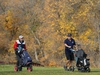 A walk and a chat at Windsor Park Golf Course in Winnipeg on Tues., Sept. 29, 2020. Kevin King/Winnipeg Sun/Postmedia Network
