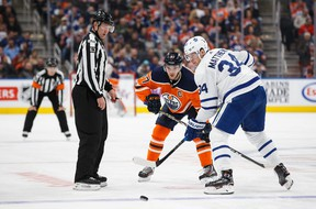 Seeing Connor McDavid (left) face off against Auston Matthews in the Winter Olympics would be a dream come true, but Canada should boycott Beijing, writes Steve Simmons.
