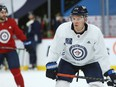 Paul Stastny takes his position during Winnipeg Jets practice at Bell MTS Place in Winnipeg on Tuesday, Feb. 23, 2021.