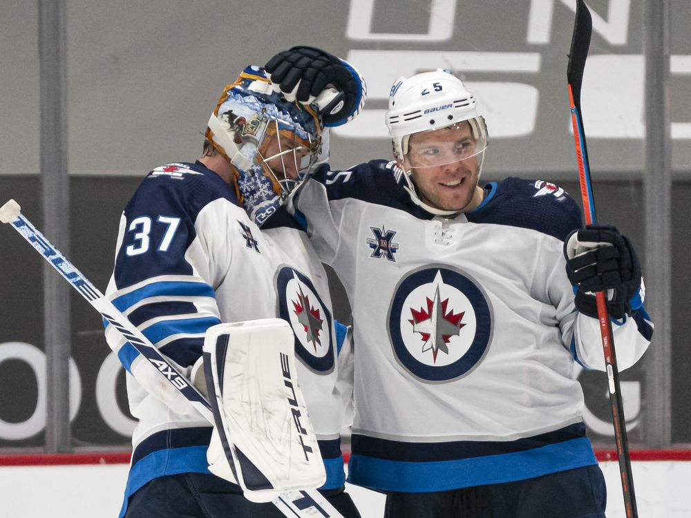 Unshakable and unpretentious, Hellebuyck draws comparisons to Barrasso, love from teammates