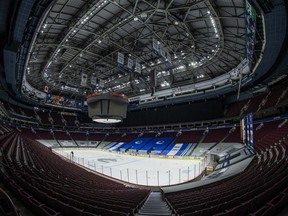 Rogers Arena sits empty as the Vancouver Canucks stay sidelined because of a COVID-19 outbreak. USA TODAY