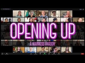 """Winnipeg music teacher Heidi Korte and her students, who've performed on Instagram every day over the past year, have launched a quarantine parody video celebrating their one-year anniversary of learning over Zoom. Set to """"Opening Up"""" from the 2015 Broadway musical Waitress, the parody explores the challenges of performing, practicing and connecting over Zoom. Since being posted to YouTube on April 15, 2021, it has been viewed over 4,400 times."""