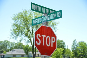 The corner of North Colonization Road and North Fifth Avenue in Gimli, Man. For years Gimli has been home to street names that some residents want changed, as North Colonization Road, South Colonization Road, and Colonization Close all run through the town, while a fourth Colonization Road sits just outside the community, but still within the RM of Gimli. Scott Carman of Gimli said he and others are working to get street names changed in Gimli that are named for the act of colonization.