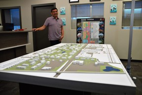 A 3D model unveiled on Thursday gave Winnipeggers a better idea of what the former Kapyong Barracks sight along Kenaston Boulevard will look like, once it is transformed into a brand new and massive urban reserve. Dave Baxter/Winnipeg Sun
