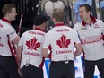 Skip Brendan Bottcher (right) and his teammates will wear the Maple Leaf at the  Americas Zone Challenge Oct. 29-31